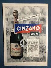 Rara Pubblicita' CINZANO ASTI 1950