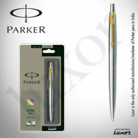 Parker Jotter Stainless Steel GT (Gold Trim) Ball Pen Original New IN BOX PACK.*