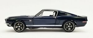 1968 FORD MUSTANG SHELBY GT500KR RESTOMOD KING COBRA BLUE 1:18 BY ACME A1801843