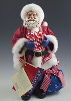 MIB CLOTHTIQUE POSSIBLE DREAMS CANDY CANE CARRY ON SANTA, 713475, BOXED