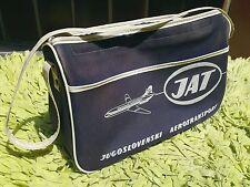 1970s JAT YUGOSLAV AIRLINES Vintage Airline Carry On Travel Flight Bag RARE !!!