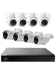 Montavue 8 Channel home security system with 4K Ultra HD NVR & 8 2K 4MP IP Ca...