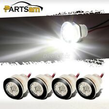 4Pcs White LED Courtesy Livewell Boat Light Interior Exterior Under Water IP68
