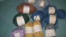 12 Balls Rowan Knitting Yarn Cotton Rope Fazed Tweed Truesilk Holiday Pure Wool