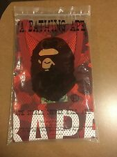 100% Authentic A Bathing Ape red camo mesh basketball jersey size XL brand new