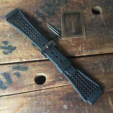20mm Tropic-Type Swiss Dive Strap & Big Acier Buckle Vintage Watch Band Unused