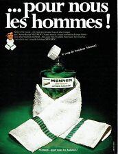 Publicité Advertising 067  1970  after-shave skin bracer lotion Mennen homme