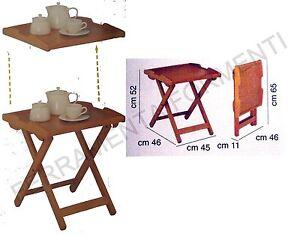 Vassoio tavolino con piano rimovibile Foppapedretti DESSERT in legno noce