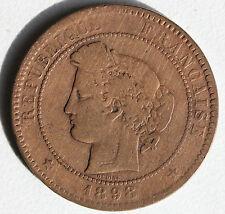 PIECE EN BRONZE - FRANCE - 10 CENTIMES - CERES DE OUDINE - ATELIER A - 1898
