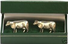 Beef Suckler Cow Cufflinks NEW Pewter Farming Gift Idea
