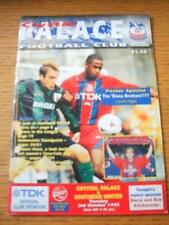 03/10/1995 Crystal Palace v Southend United [Football League Cup] (Team Changes)