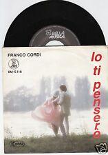 FRANCO CORDI Io Ti Penseró 45/GER/PIC