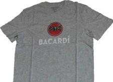 Schönes Bacardi USA T-shirt grau meliert Größe XL Fledermaus Logo