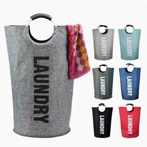 Folding Fabric Laundry Hamper Clothes Washing Bin Basket Collapsible Storage Bag