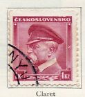 Czechoslovakia 1934 Early Issue Fine Used 1kr. 097431