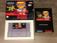 Daffy Duck The Marvin Missions Super Nintendo Snes Complete CIB Authentic