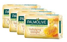 4 x Palmolive Naturals - Indulging Delight - Milk & Honey Pampering Bar Soap