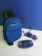 gba GAMEBOY ADVANCE PURPLE nintendo HANDHELD CONSOLE carry case 4 player lead