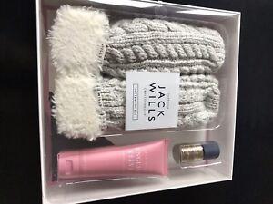 Jack Wills Femme Rose Bleu Marine Mitaines Gants /& Pompon Bonnet en laine Set-Entièrement NEUF dans sa boîte