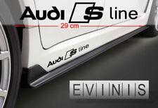AUDI S LINE 2x Side Stickers Car Decals Graphics DEFAULT BLACK