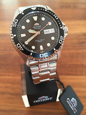 BEST PRICE!!! New Orient Ray II Black Automatic Watch Automatik Taucher Uhr