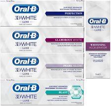 Oral-B 3DWhite Luxe Enamel Perfection/Glamorous/Whitening Accelerator Toothpaste