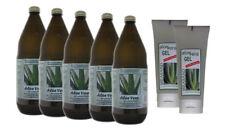 5 x 1000 ml  Aloe Vera Saft 99,7% Glasflasche + 2 x 200 ml Hautgel 98% - Paket