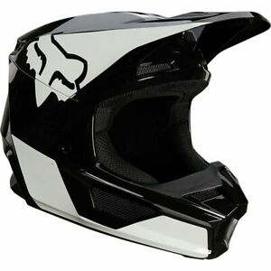 Fox Racing V1 REVN Helmet, Black/White, X-Small