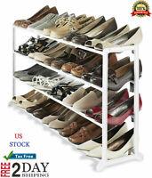 Estante Para 20 Pares De Zapatos De 4 Niveles, Organizador De Zapatos -Blanco,