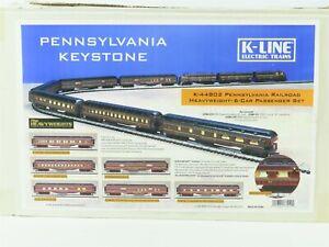 O Gauge 3-Rail K-Line K-44802 PRR Keystone Heavyweight Passenger Car 6-Pack