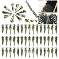 50X 26mm Silver Spots Cone Screw Metal Studs Leather craft Rivet Bullet Spikes