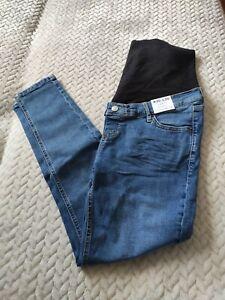 Topshop Maternity Jamie High Waisted Skinny Jeans UK 12