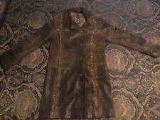 Natural Leather Coat Size M Made in Turkey