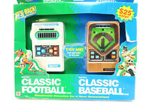 Vtg Classic Football Classic Baseball Pack from Mattel 2001 Electronic Brand New