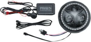 Kuryakyn Black Orbit Prism+ 5.75in LED Headlight w/ Bluetooth Halo 2473