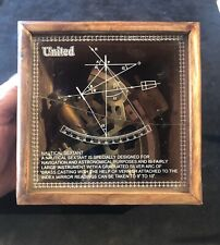 Vintage NAUTICAL SEXTANT UNITED BRAND MARINE NAVIGATION ASTRONOMICAL BOXED BRASS