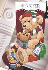Dimensions Gift for Teddy Bear Christmas Holiday Needlepoint Stocking Kit 9130 R