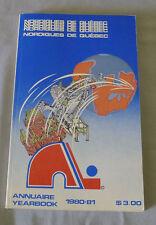 Original NHL Quebec Nordiques 1980-81 Official Hockey Media Guide