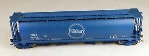 InterMountain #PBLX-03 4-Bay Cylindrical Hopper Pillsbury #20098 1/87 HO Scale