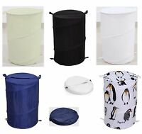 Optimal Pop Up Laundry Hamper Basket Bin Washing Clothes Storage Bag Easy Store