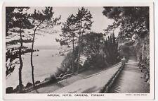Devon; Torquay, Imperial Hotel Gardens RP PPC, 1947 Local PMK