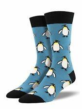 Socksmith Men's Novelty Crew Socks, MNC1626 The Coolest Emperor - Blue