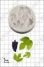 Molde de silicona UVA Y VID Hojas Comida Uso FPC Pasta de Azúcar