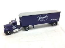 1ST GEAR #19-1619 1/34 SCALE GRAPETTE SODA 1960 MODEL B-61 MACK TRACTOR TRAILER