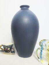 LAURENTIAN ART POTTERY Modernist Purple Vase 1980's Mid Century Modern Eames Era