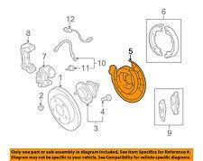 GM OEM Rear Brake-Backing Plate Splash Dust Shield 20933372