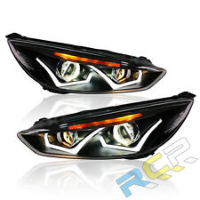 2pcs for 2015-2017 Ford Focus Headlight Head Led drl Xenon projector Lamp RH+LH