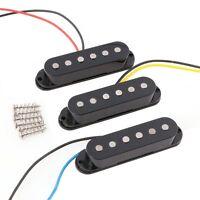 Black 1Set/3Pcs Alnico 5 Alnico V Single Coil Pickup SSS for Strat Style Guitar