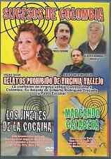 RARE dvd relatos prohibidos de Virgina Vallejo JINETES COCAINA marcando calavera