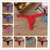 Mens Underwear Thong Briefs Breathable Pouch G-string Underpants T-back M-XXL